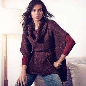 White House Black Market Knit Poncho Sweater